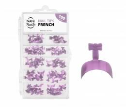 NANI Tipy v boxu 100 ks, 10 velikostí - Quick French Light Violet