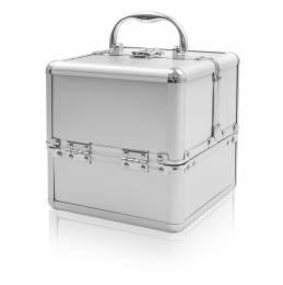 NANI kosmetický kufřík Kostka - Stříbrná