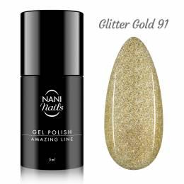 NANI gel lak Amazing Line 5 ml - Glitter Gold