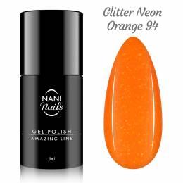 NANI gel lak Amazing Line 5 ml - Glitter Neon Orange