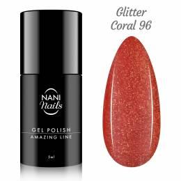 NANI gel lak Amazing Line 5 ml - Glitter Coral