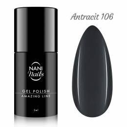 NANI gel lak Amazing Line 5 ml - Antracit
