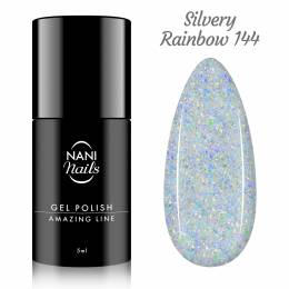 NANI gel lak Amazing Line 5 ml - Silvery Rainbow