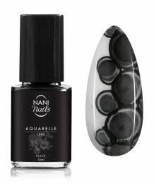 NANI zdobicí lak Aquarelle INK 12 ml - Black