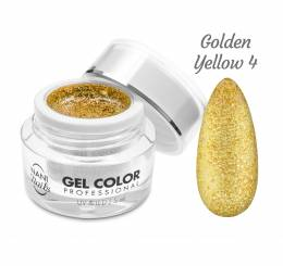 NANI UV/LED gel Glamour Twinkle 5 ml - Golden Yellow