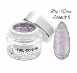 NANI UV/LED gel Glamour Twinkle 5 ml - Blue Silver Accent