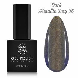 NANI gel lak 6 ml - Dark Metallic Grey