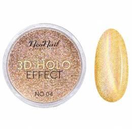 NeoNail lešticí pigment 3D Holo Effect - Gold