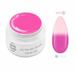 NANI termo UV gel 5 ml - Pink White Glitter