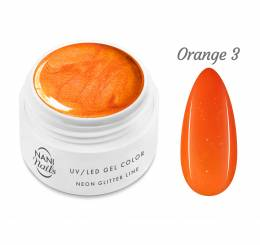 NANI UV gel Neon Glitter Line 5 ml - Orange
