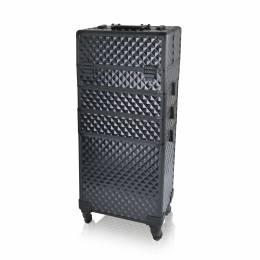 NANI čtyřdílný kosmetický kufřík na kolečkách - 3D Diamond Black