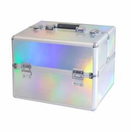 NANI kosmetický kufřík NN63 - Holographic Silver