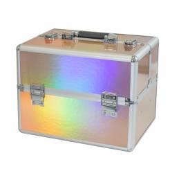 NANI kosmetický kufřík NN65 - Holographic Pink