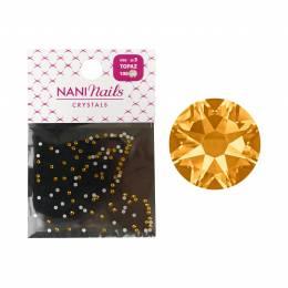 NANI kamínky SS3 100 ks - Golden Topaz