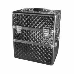 NANI dvoudílný kosmetický kufřík NN038 - Black 3D