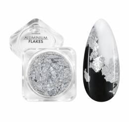 NANI zdobení Aluminium Flakes - Silver
