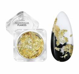 NANI zdobení Aluminium Flakes - Gold