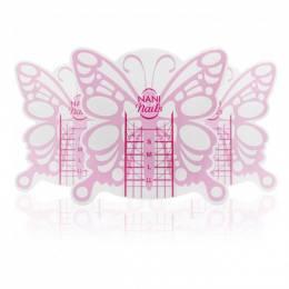 NANI šablony na nehty Butterfly Short, 100 ks