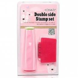 Konad Double side Stamp set - Ștampilă bilaterală + spatulă