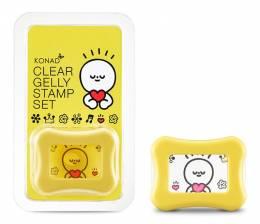 Ștampilă de silicon Konad + spatulă - Gelly Clear