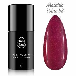 Oja semipermanenta NANI Amazing Line 5 ml - Metallic Wine