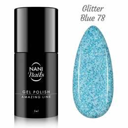 Oja semipermanenta NANI Amazing Line 5 ml - Glitter Blue