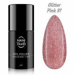Oja semipermanenta NANI Amazing Line 5 ml - Glitter Pink