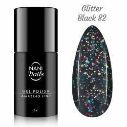 Oja semipermanenta NANI Amazing Line 5 ml - Glitter Black
