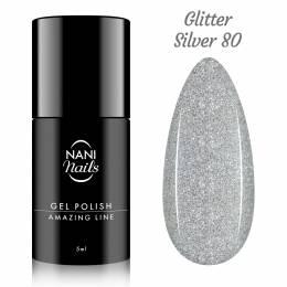 Oja semipermanenta NANI Amazing Line 5 ml - Glitter Silver