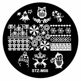 Matriță decor unghii NANI Crăciun M06