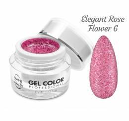Gel UV/LED NANI Glamour Twinkle 5 ml - Elegant Rose Flower