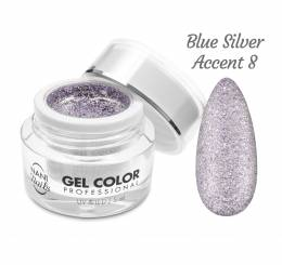 Gel UV/LED NANI Glamour Twinkle 5 ml - Blue Silver Accent