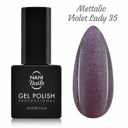Ojă semipermanentă NANI 6 ml - Metallic Violet Lady