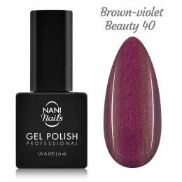 Ojă semipermanentă NANI 6 ml - Brown-violet Beauty