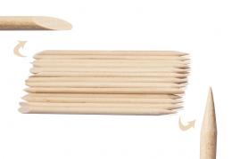 Bețișoare pentru unghii din lemn de portocal 11,5 cm 100 buc.