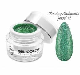 Gel UV/LED NANI Glamour Twinkle 5 ml - Glowing Malachite Jewel