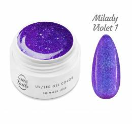 Gel UV NANI Shimmer Line 5 ml - Milady Violet