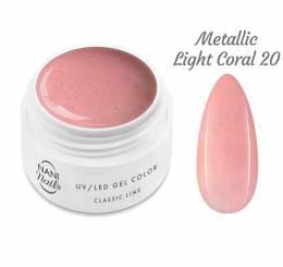 Gel UV NANI Classic Line 5 ml - Metallic Light Coral