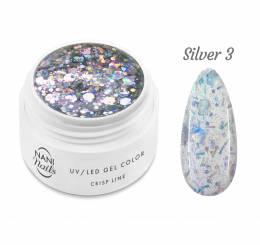 Gel UV NANI Crisp Line 5 ml - Silver