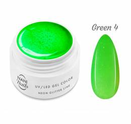 Gel UV NANI Neon Glitter Line 5 ml - Green