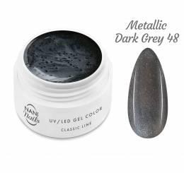 Gel UV NANI Classic Line 5 ml - Metallic Dark Grey