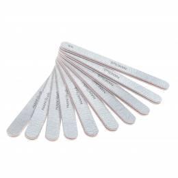 Pilă de unghii NANI Premium 80/80, dreaptă - Zebra, 10 buc.