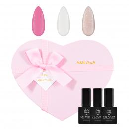 Set cadou de oje semipermanente NANI Sweetheart - Pink