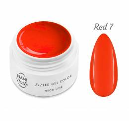 Gel UV NANI Neon Line 5 ml - Roșie