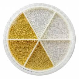 "Decorațiuni carusel NANI ""caviar"" - Silver/Gold"