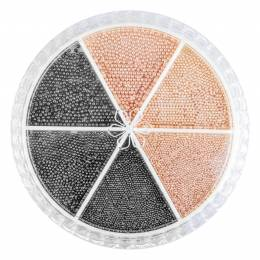 """Decorațiuni carusel NANI """"caviar"""" - Rose Gold/Gun Grey"""