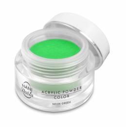 Pudră acrilică NANI 3,5 g - Neon Green