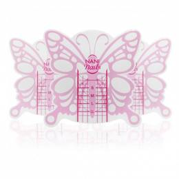 Şabloane NANI Butterfly Short pentru unghii, 100 buc.