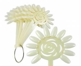 NANI vzorkovník Kvetina na laky, gély - Mliečny, 10x12 pozíc