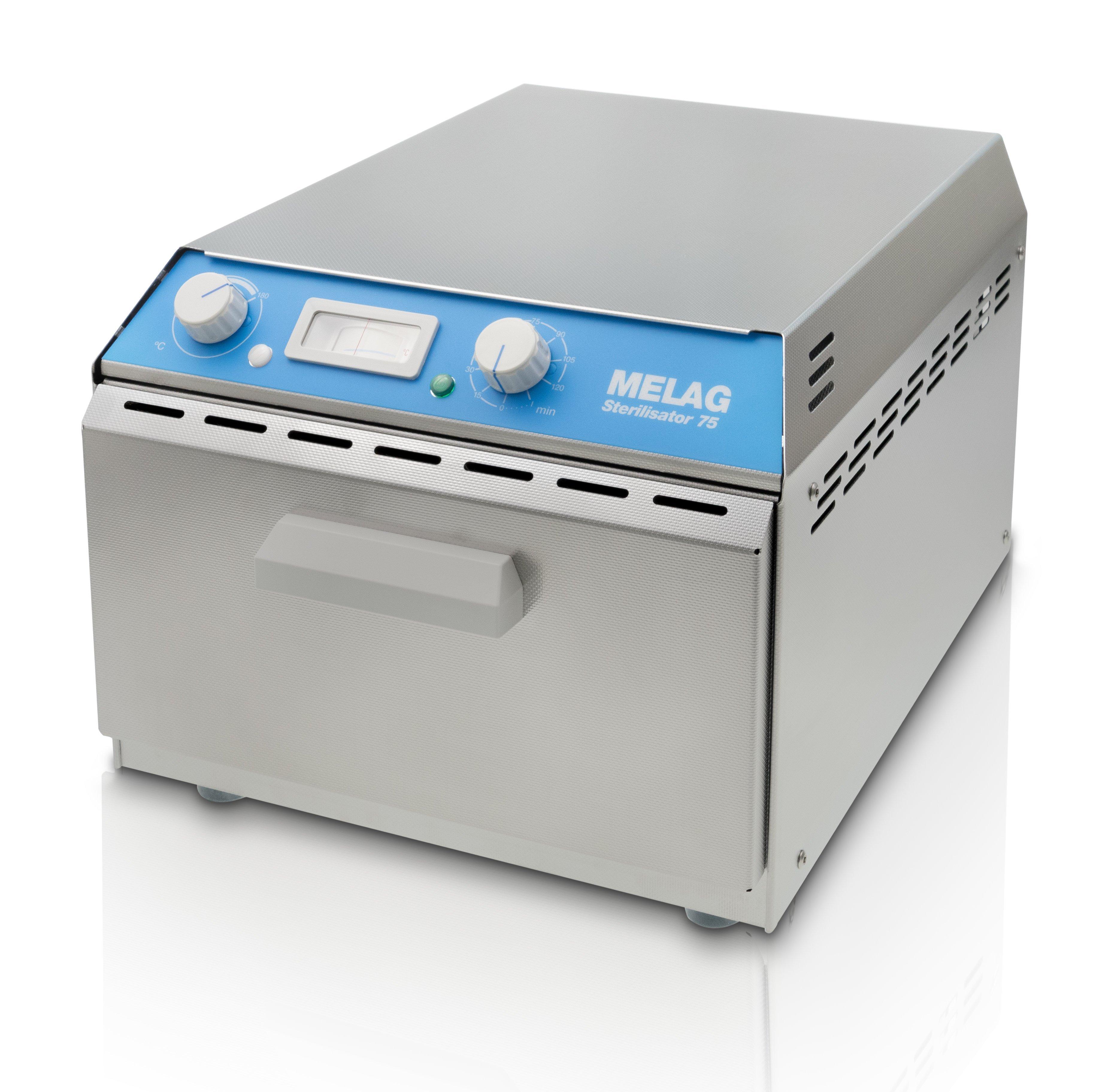 Teplovzdušný sterilizátor Melag 75 + Alu kazeta a držiak č. 2